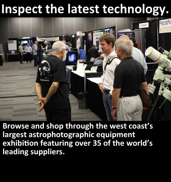 browse and shop through the west coast's largest astrophotographic equipment exhibition featuring over 35 of the world's leading suppliers